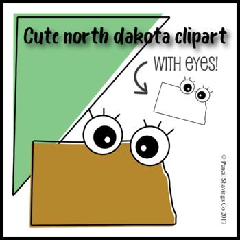 North Dakota Clipart with Eyes!