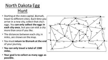 North Dakota Easter Math Activity