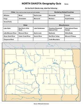 North Dakota Geography Quiz