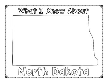 North Dakota Graphic Organizers (Perfect for KWL charts and geography!)