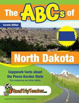 North Dakota Handwriting Printables - Cursive Edition