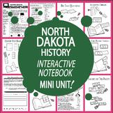 North Dakota History State Study Interactive Notebook Unit + AUDIO
