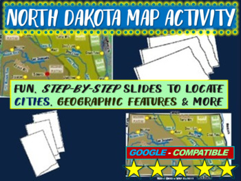 North Dakota Map Activity- fun, engaging, follow-along 20-
