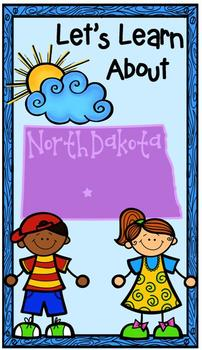 North Dakota Primary Research Project with Easy-to-Read State Book