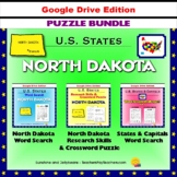 North Dakota Puzzle BUNDLE - Word Search & Crossword - U.S States - Google