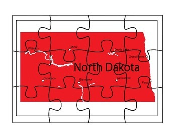 North Dakota Puzzle Map Fun