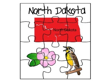 North Dakota Puzzle Set