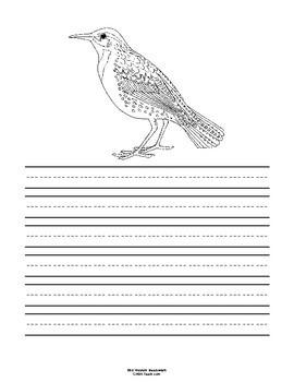 North Dakota State Bird Notebooking Set (Western Meadowlark)
