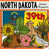 North Dakota State Clip Art