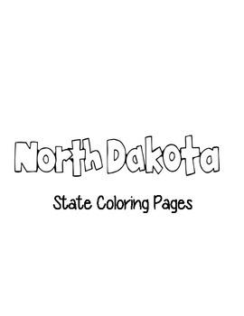 North Dakota State Coloring Pages
