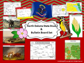 North Dakota State Study & Bulletin Board Set