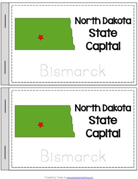 North Dakota State Symbols Notebook