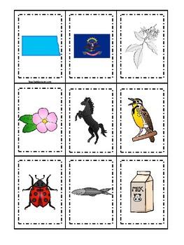 USA-Printables: North Dakota State Quarter - US States Coloring Pages | 350x263