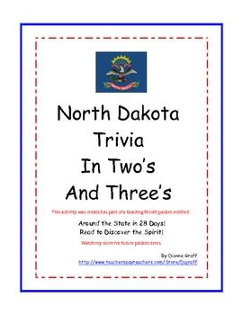 North Dakota Trivia in Two's and Three's