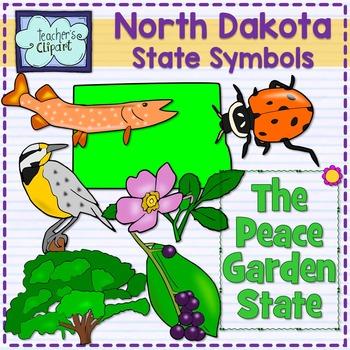 North Dakota state symbols clipart
