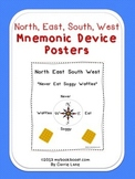 North, East, South, West Mnemonic Device Posters