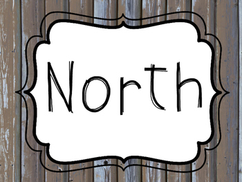 North, East, South, West Wall Sign