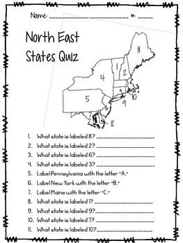 North East States Quiz
