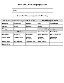 North Korea Geography Quiz