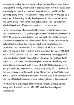 North Korea Handout