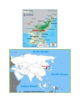 North Korea Map Scavenger Hunt