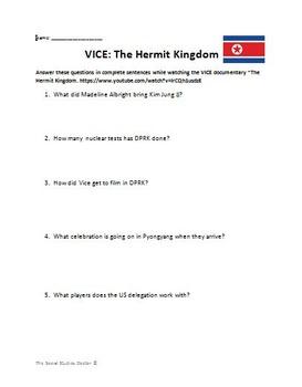North Korea VICE Documentary Video Guide