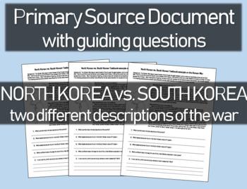 North Korea vs. South Korea textbook descriptions of the War - Primary Source