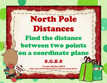 North Pole:  8.G.B.8 Finding Distances Between Points on a Coordinate Plane