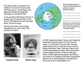 North Pole: Animals, Climate, Explorers and Santa's Workshop Fun Activity