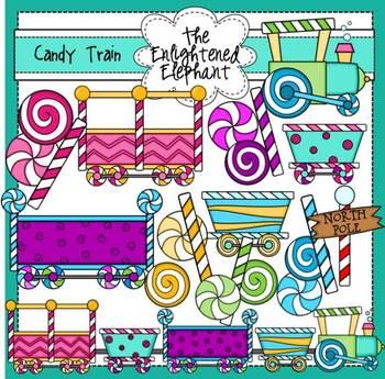 Candy Train Clip Art