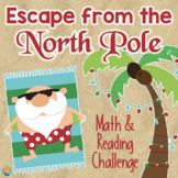 North Pole Christmas ESCAPE ROOM 4th Grade Reading & Math LOW PREP