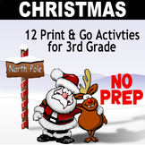 North Pole Christmas Math for 3rd Grade - 12 activities