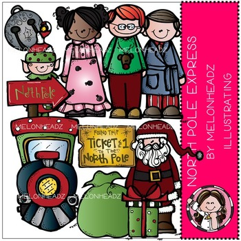 North Pole Express clip art - COMBO PACK- by Melonheadz