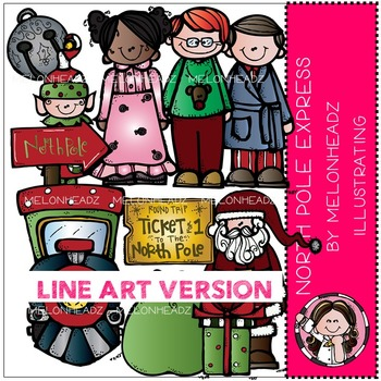 North Pole Express by Melonheadz LINE ART