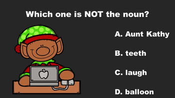 North Pole Fun With Nouns - A PowerPoint Game