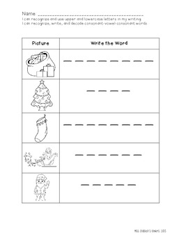 Kindergarten North Pole Literacy Center Activities!