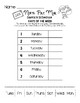 North Pole Mail Abbreviations - B&W Worksheet Pack