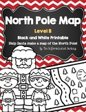 North Pole Map Black and White Level B