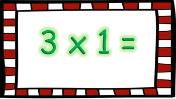 North Pole Math: Multiplication (Facts 3-5) PDF Version