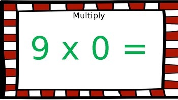 North Pole Math: Multiplication (Facts 9-11) PDF Version