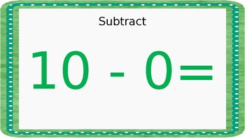 North Pole Math: Subtraction (Facts 10, 11, and Zero)