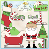 North Pole Santa Claus Clip Art - Christmas Clip Art - CU