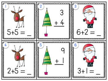North Pole Scoot Freebie {addition to 10!}