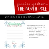 North Pole Stationery | Letter From Santa | Writing Paper