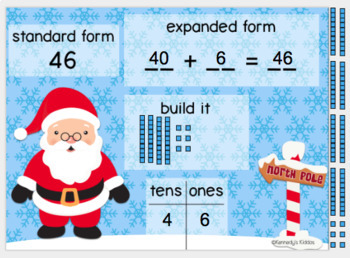 North Pole - Tens and Ones (Great for Google Classroom!)