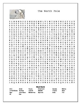 North Pole Wordsearches