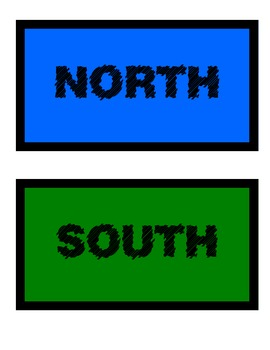north south east west signs by once upon a creative classroom tpt