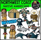 Northwest Coast Native Americans Clip Art Bundle {Educlips Clipart}