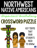 Northwest Native American Crossword Comprehension Puzzle