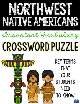 Northwest Native American Crossword Comprehension Puzzle
